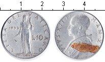 Изображение Монеты Ватикан 10 лир 1953 Алюминий