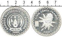Изображение Монеты Африка Руанда 500 франков 2002 Серебро Proof-