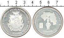 Изображение Монеты Африка Гвинея 2000 франков 2002 Серебро Proof-