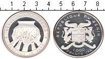 Изображение Монеты Бенин 1000 франков 1992 Серебро Proof-