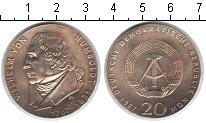 Изображение Монеты ГДР 20 марок 1967 Серебро UNC-