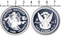 Изображение Монеты Судан 5 динар 1984 Серебро Proof-