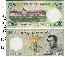 Изображение Банкноты Азия Бутан 100 нгултрум 2006  UNC