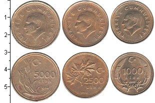 Изображение Наборы монет Турция Турция 1992-1994 0  UNC-