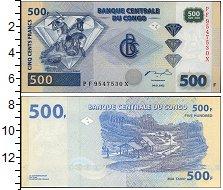 Изображение Банкноты Африка Конго 500 франков 2002  UNC