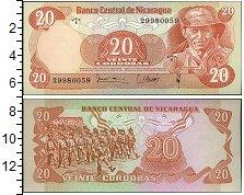 Изображение Банкноты Никарагуа 20 кордоба 1979  UNC