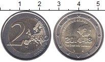 Изображение Мелочь Европа Бельгия 2 евро 2014 Биметалл UNC-