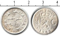 Изображение Монеты Нидерландская Индия 1/4 гульдена 1945 Серебро XF