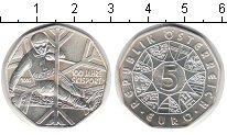 Изображение Монеты Австрия 5 евро 2005 Серебро UNC- 100 лет лыжному спор