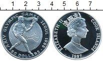 Изображение Монеты Острова Кука 50 долларов 1987 Серебро Proof- Олимпийские игры 198