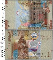 Изображение Банкноты Азия Кувейт 1/4 динара 2014  UNC