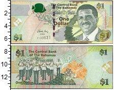 Изображение Банкноты Северная Америка Багамские острова 1 доллар 2015  UNC