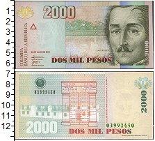 Изображение Банкноты Южная Америка Колумбия 2000 песо 2010  UNC