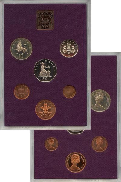 Изображение Подарочные монеты Европа Великобритания Выпуск 1980 года 1980  AUNC