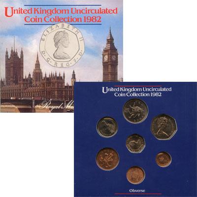 Изображение Подарочные монеты Великобритания Выпуск 1982 года 1982  UNC