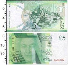 Изображение Банкноты Великобритания Гибралтар 5 фунтов 2011  UNC