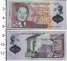 Изображение Банкноты Маврикий 25 рупий 2013  UNC