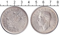 Изображение Монеты Австралия и Океания Новая Зеландия 1 крона 1949 Серебро XF