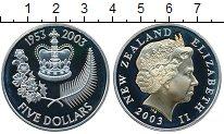 Изображение Монеты Новая Зеландия 5 долларов 2003 Серебро Proof-