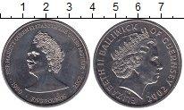 Изображение Мелочь Великобритания Гернси 5 фунтов 2002 Медно-никель UNC