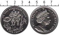 Изображение Мелочь Великобритания Остров Мэн 1 крона 2014 Медно-никель UNC