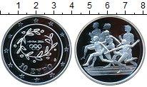 Изображение Монеты Греция 10 евро 2004 Серебро Proof- Афины 2004. Бег