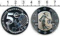 Изображение Монеты Франция 5 евро 2002 Серебро Proof-