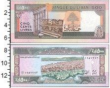 Изображение Банкноты Азия Ливан 500 ливр 1988  UNC-