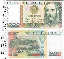 Изображение Банкноты Перу 1000 инти 1988  UNC