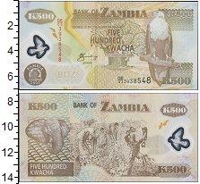 Изображение Банкноты Замбия 500 квач 0  UNC-