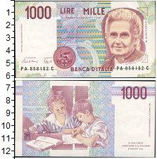 Изображение Банкноты Италия 1000 лир 0  UNC-