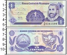 Изображение Банкноты Северная Америка Никарагуа 1 сентаво 0  UNC-