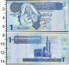 Изображение Банкноты Африка Ливия 1 динар 0  UNC