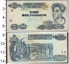 Изображение Банкноты Боливия 10 боливиано 1986  UNC-