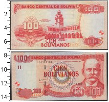 Изображение Банкноты Боливия 100 боливиано 0  UNC-