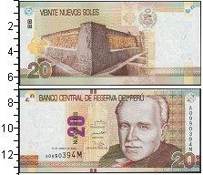 Изображение Банкноты Южная Америка Перу 20 соль 2009  UNC