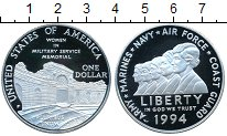 Изображение Монеты Северная Америка США 1 доллар 1994 Серебро Proof-