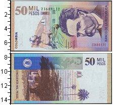 Изображение Банкноты Южная Америка Колумбия 50000 песо 2014  UNC