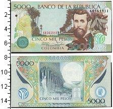 Изображение Банкноты Колумбия 5000 песо 2009  UNC