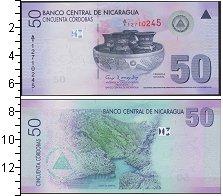 Изображение Банкноты Северная Америка Никарагуа 50 кордоба 0  UNC-