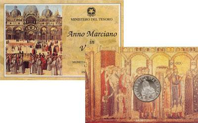 Изображение Подарочные монеты Европа Италия Базилика Сан Марко в Венеции 1994 Серебро UNC-