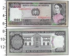 Изображение Банкноты Боливия 1000 боливиано 1982  UNC