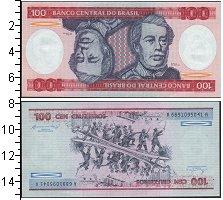 Изображение Банкноты Южная Америка Бразилия 100 крузейро 0  UNC-