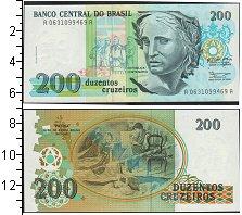 Изображение Банкноты Южная Америка Бразилия 200 крузейро 0  UNC-