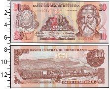 Изображение Банкноты Северная Америка Гондурас 10 лемпир 2010  UNC-