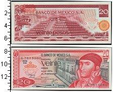 Изображение Банкноты Северная Америка Мексика 20 песо 1977  UNC-