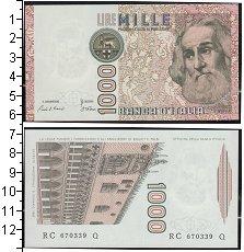 Изображение Банкноты Европа Италия 1000 лир 0  UNC-