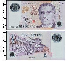 Изображение Банкноты Азия Сингапур 2 доллара 0  UNC-