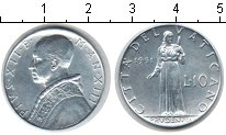 Изображение Монеты Европа Ватикан 10 лир 1951 Алюминий UNC-