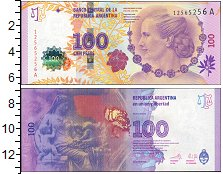 Изображение Банкноты Южная Америка Аргентина 100 песо 0  UNC